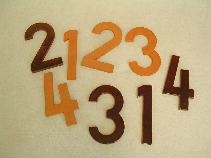 Hausnummern modern
